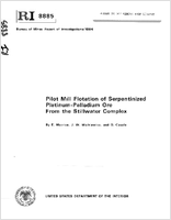 Pilot Mill Flotation of Serpentinized Platinum-Palladium Ore From the Stillwater Complex