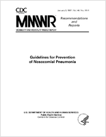 Guidelines for prevention of nosocomial pneumonia