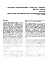Evaluation Of Devices To Prevent Construction Equipment Backing Incidents