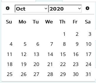 Advanced Search Input Published Date Picker