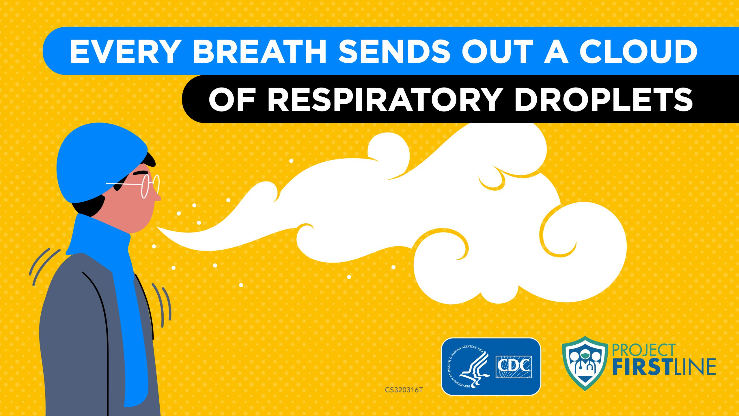 Every breath sends out a cloud of respiratory droplets