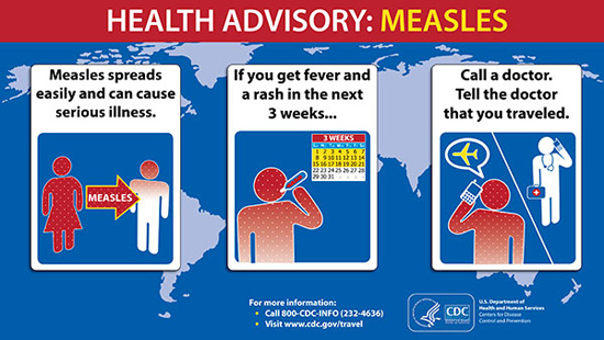 Health advisory : Measles [after travelling]