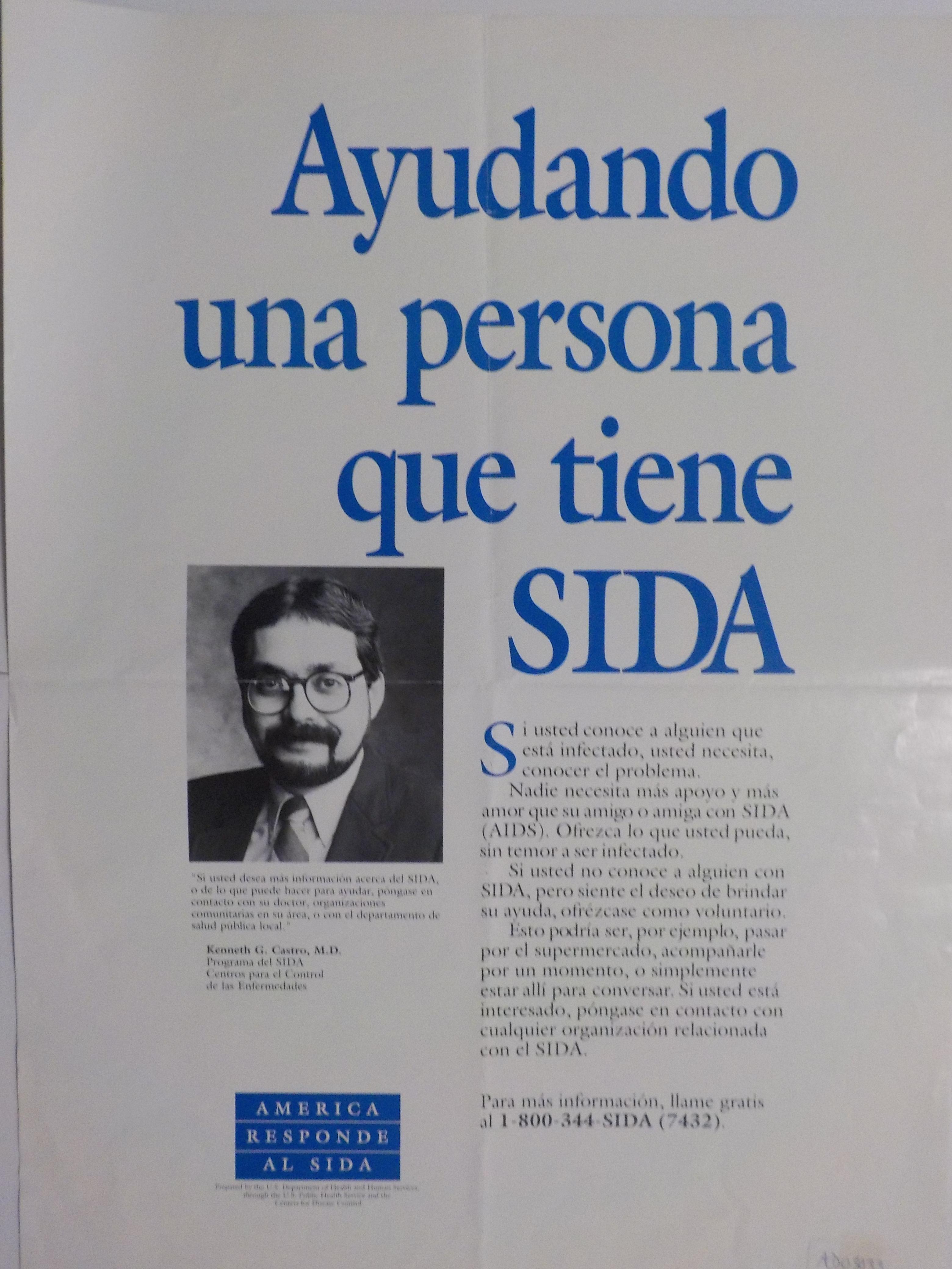 Ayudando una persona que tiene SIDA.