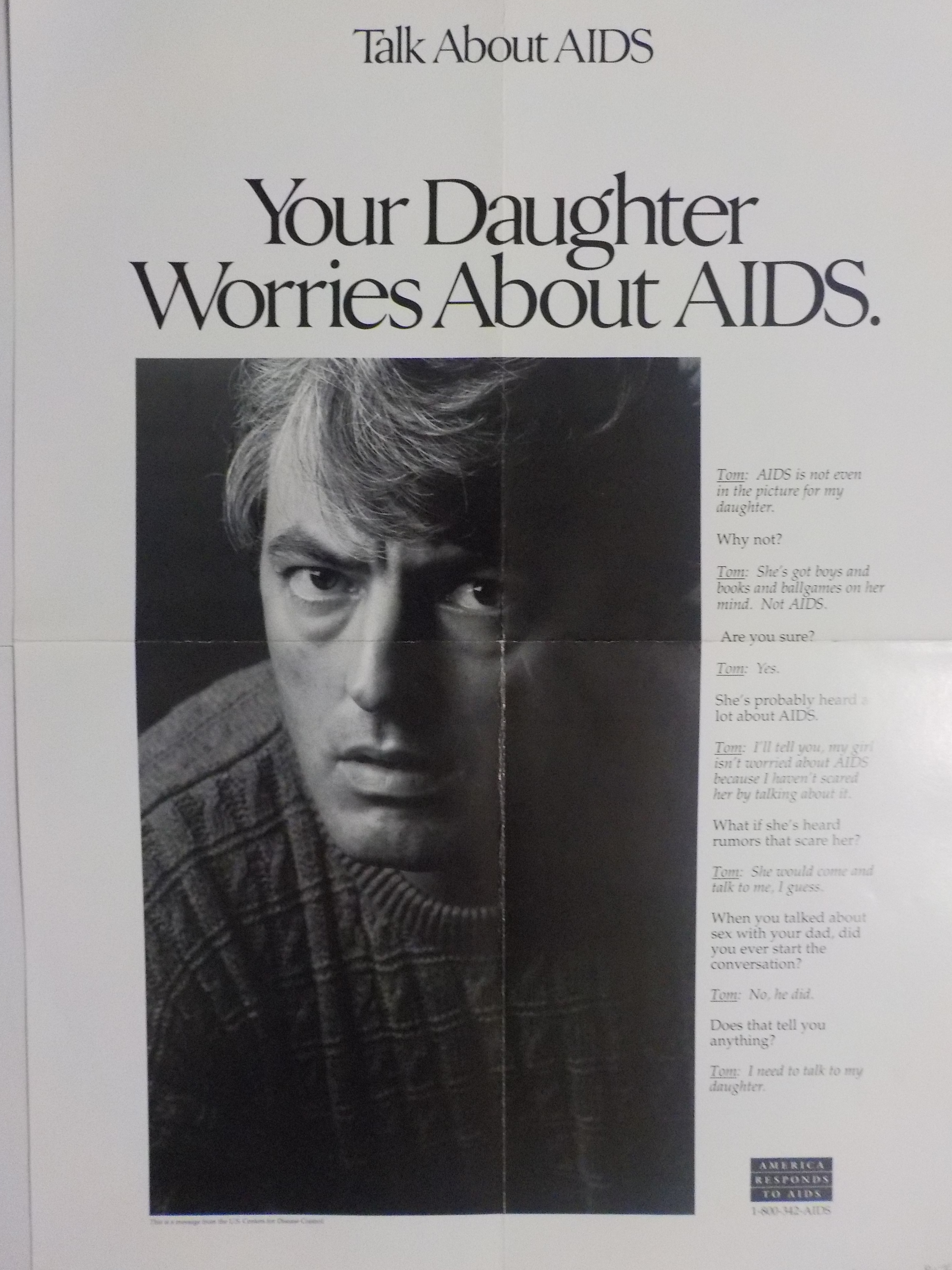 Talk about AIDS, Your daughter worries about AIDS.