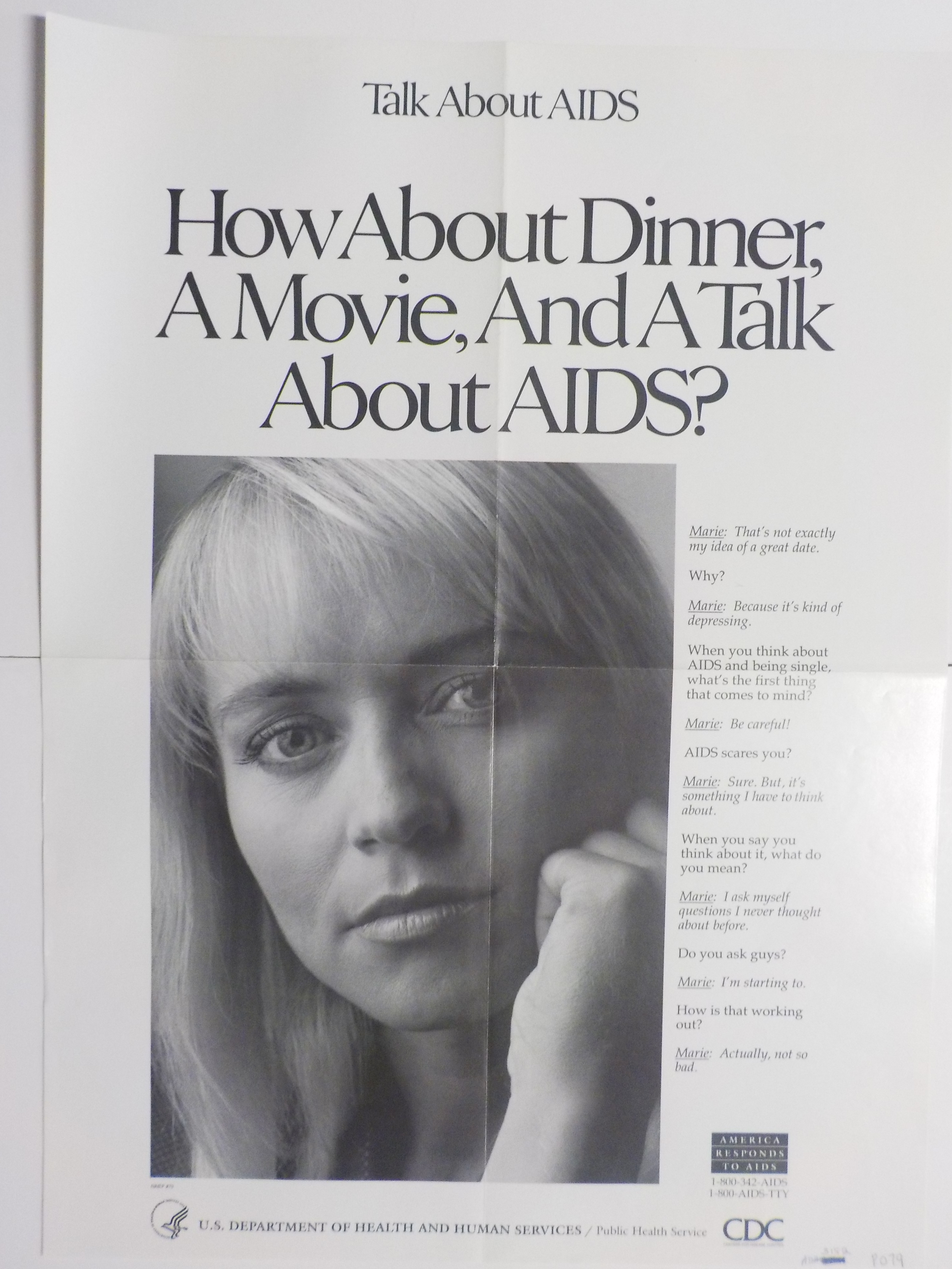 How about dinner, a movie, and a talk about AIDS?