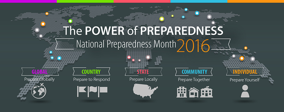 The Power of Preparedness : National Preparedness Month 2016
