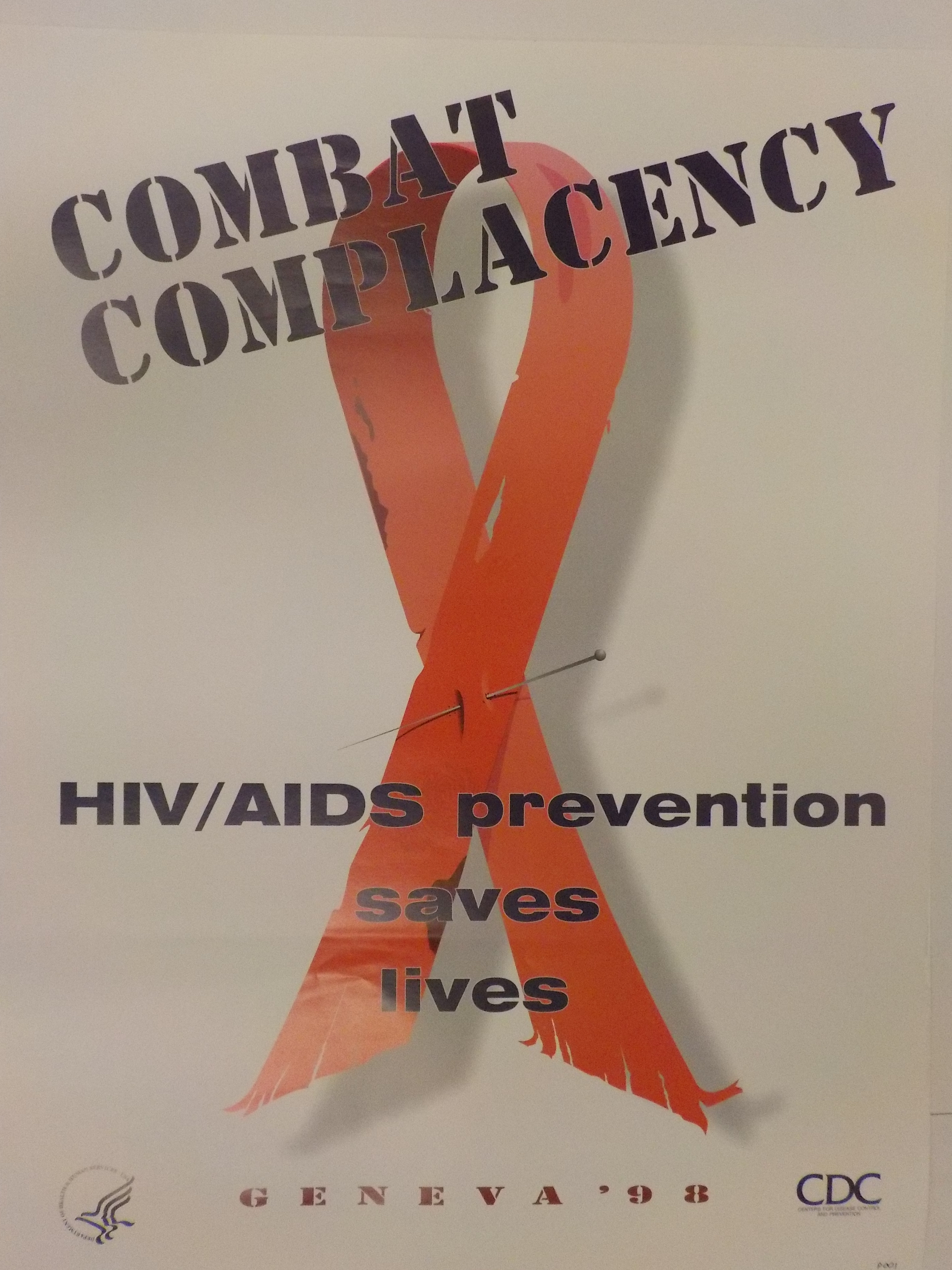 Combat complacency : HIV/AIDS prevention saves lives : Geneva '98