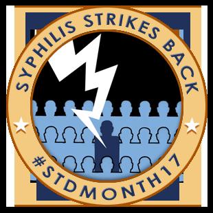 Syphilis strikes back : #STDMONTH17 badge 1