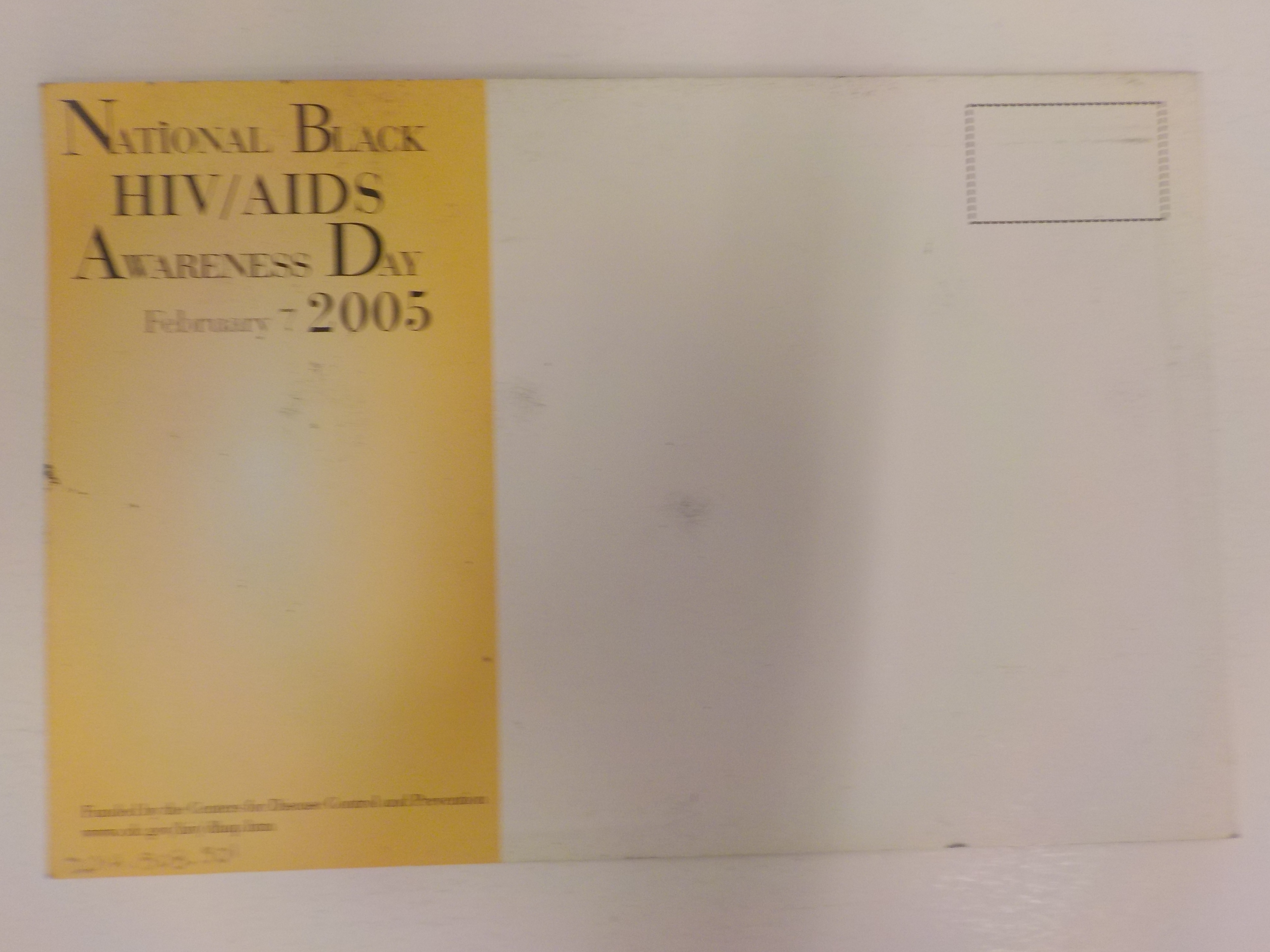 National Black HIV/AIDS Awareness Day 2005 postcard [back]