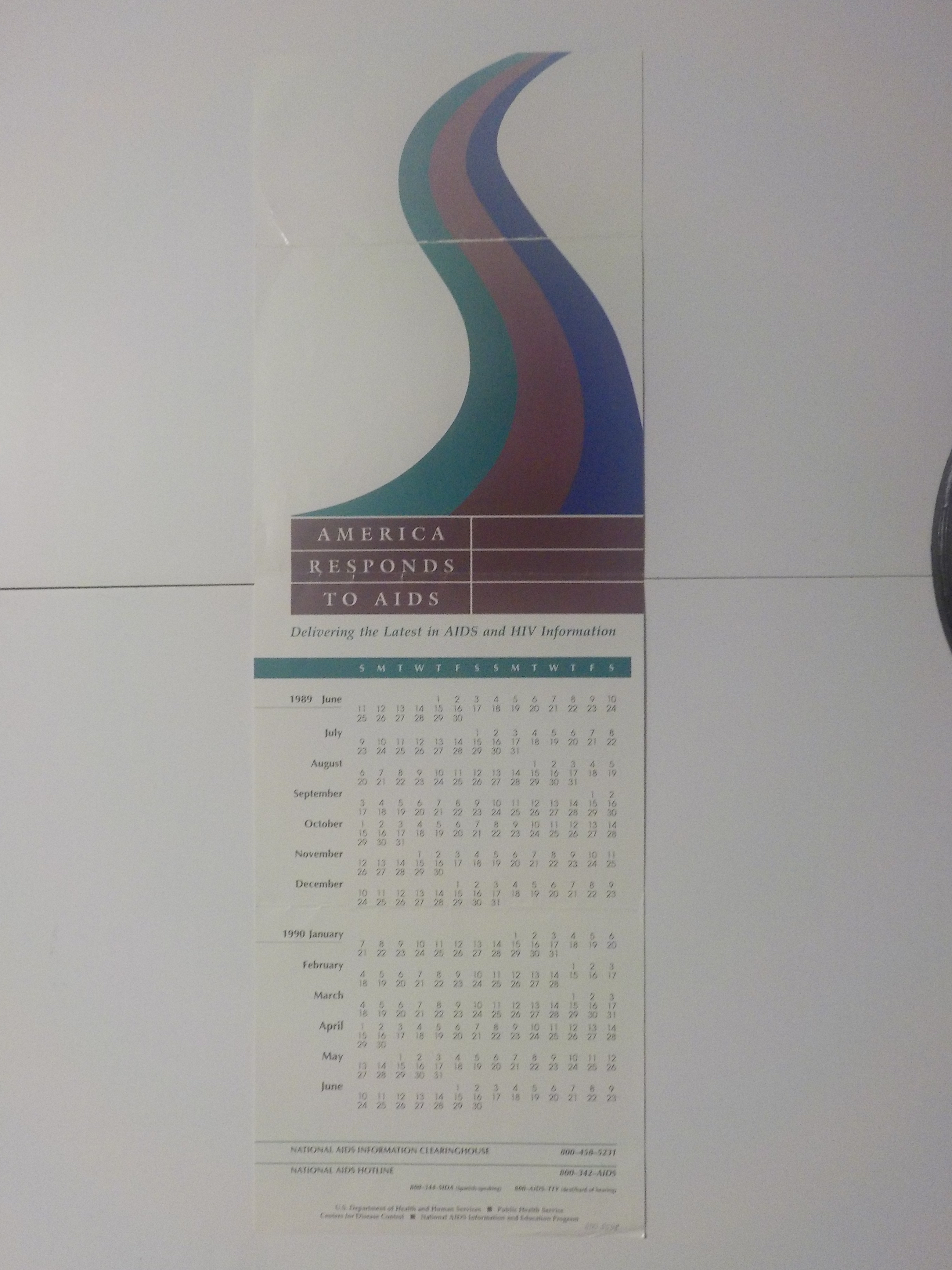 America responds to AIDS : delivering the latest in AIDS and HIV information [calendar for June 1989 through June 1990]