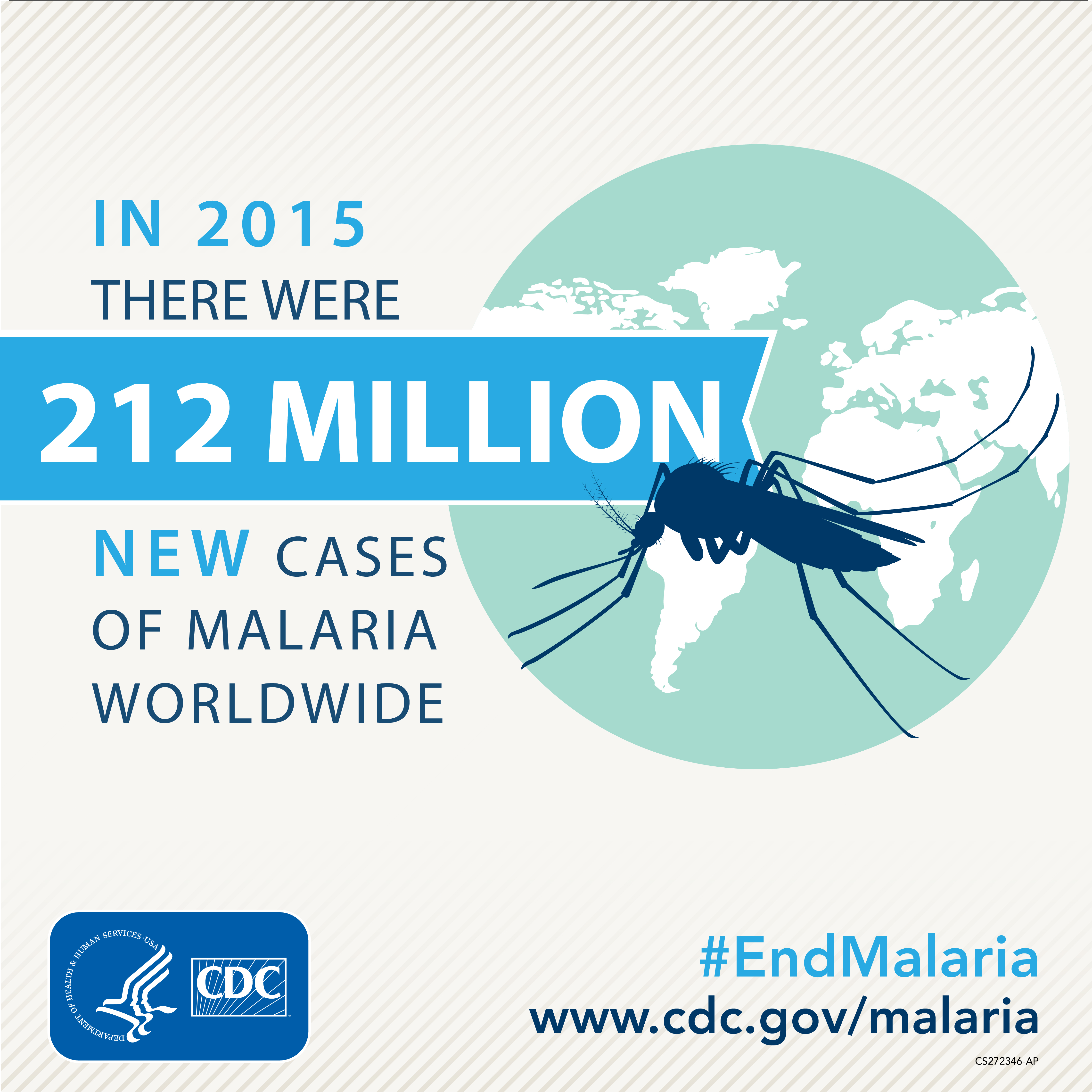 In 2015 ther were 212 million new cases of malaria worldwide
