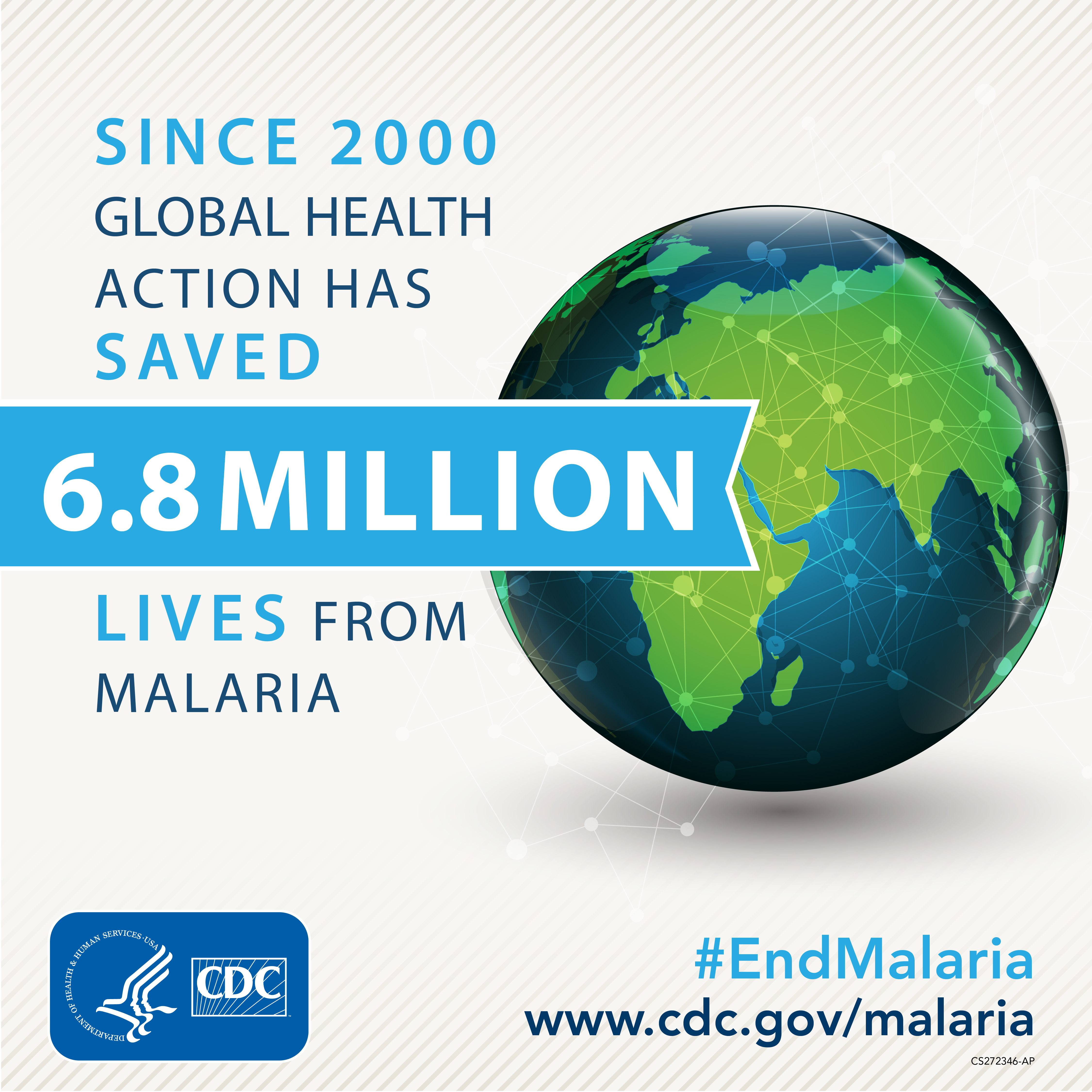 Since 2000 global health action has saved 6.8 million lives from malaria