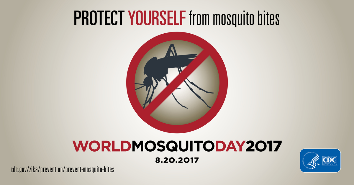 Protect yourself from mosquito bites : World Mosquito Day 2017 : 8.20.2017