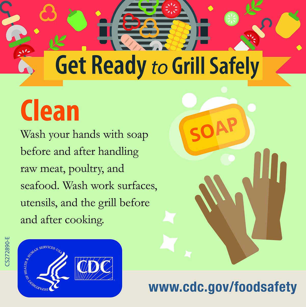 Get ready to grill safely : clean