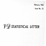 VD statistical letter, issue no. 72, February 1962