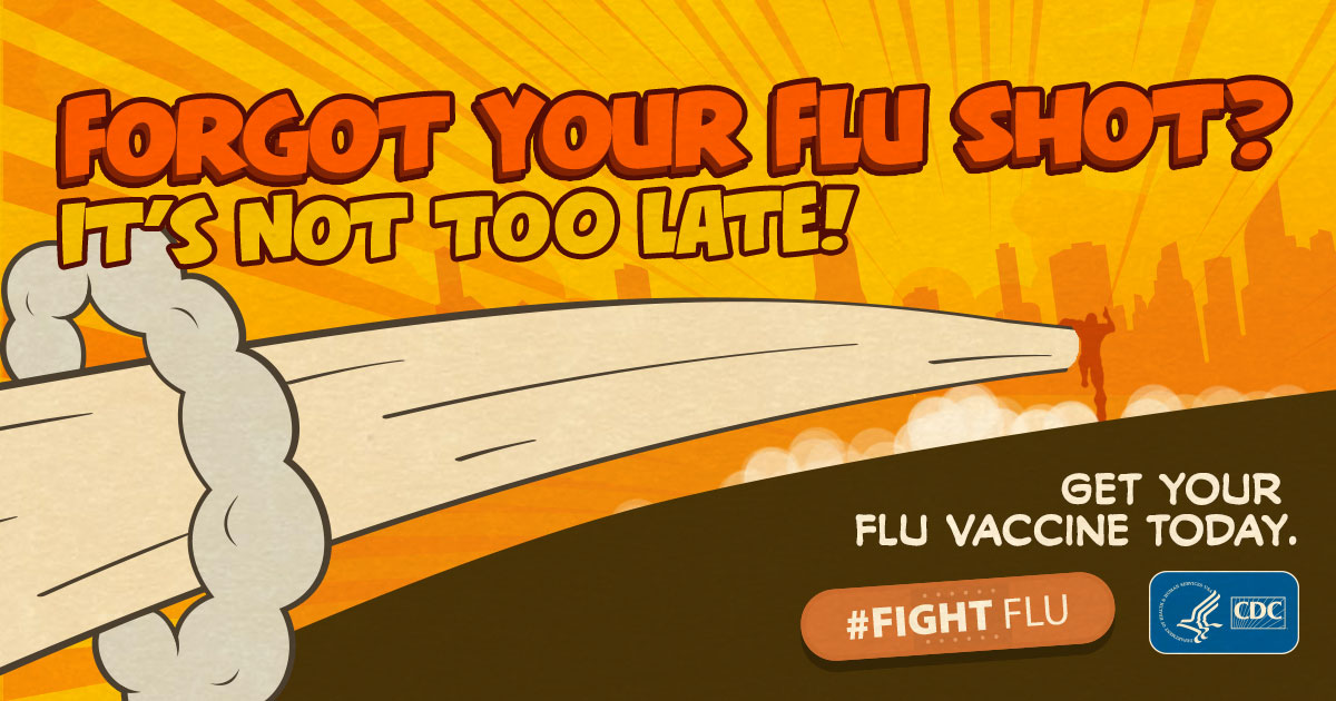 Forgot your flu shot? It's not too late!