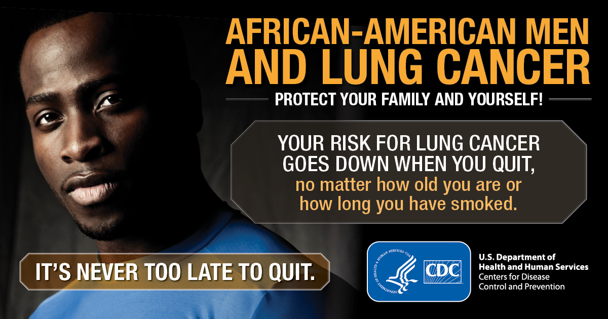 African-American men and lung cancer : protect your family and yourself!