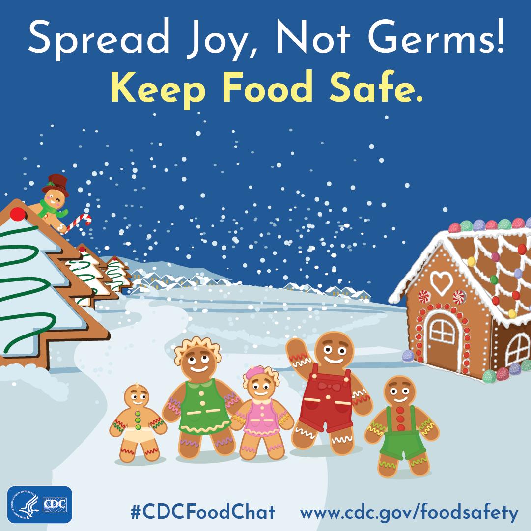 Spread joy, not germs! Keep food safe