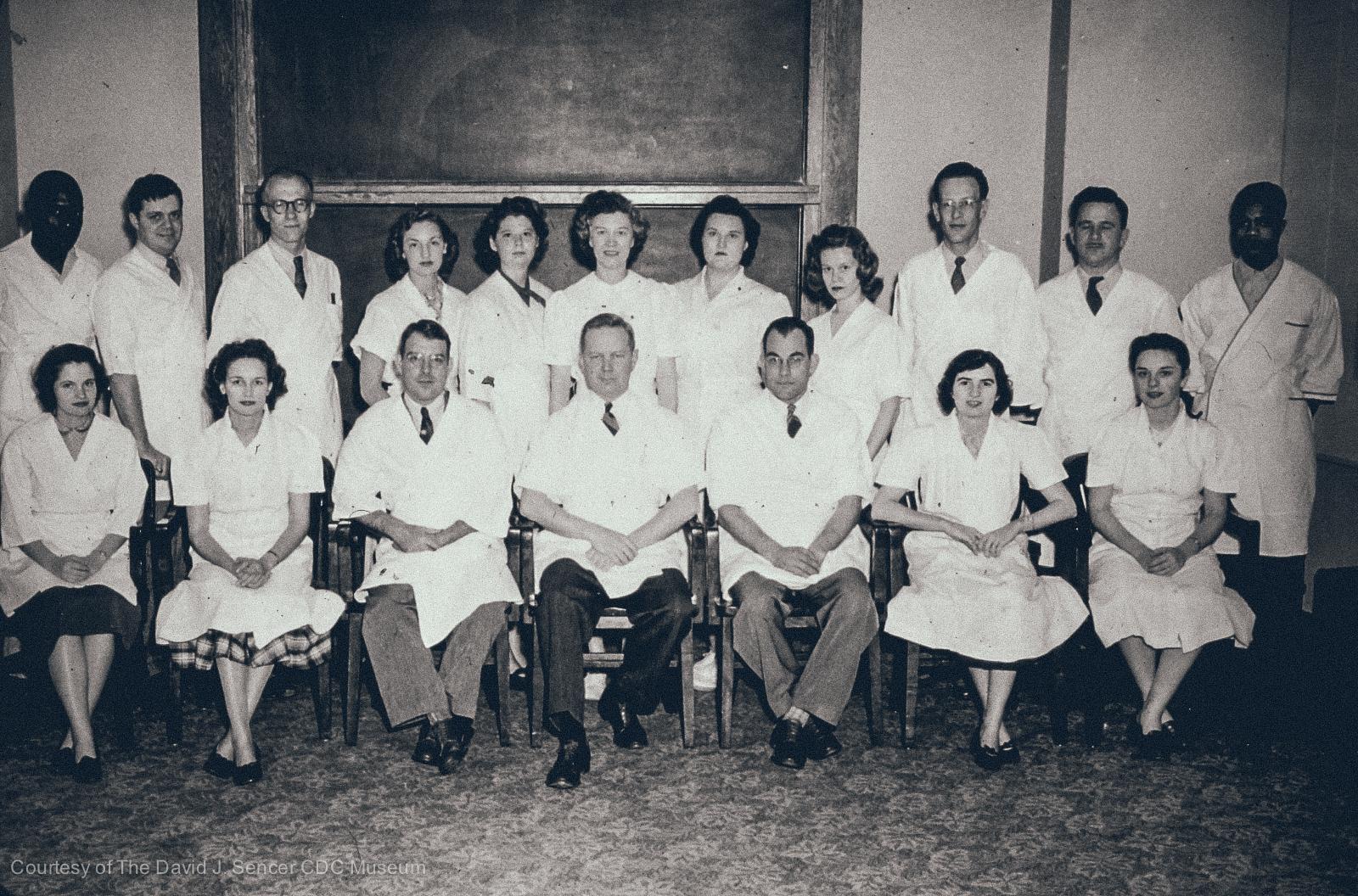 Laboratory class held at the Volunteer Building, in Atlanta, Georgia, 1945.