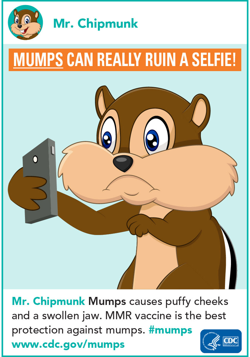 Mumps can really ruin a selfie!