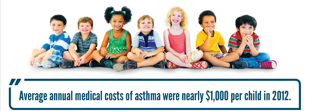 Average annual medical costs of asthma were nearly $1,000 per child in 2012