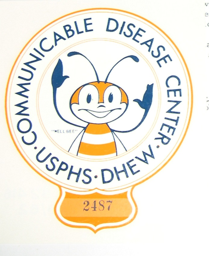Communicable Disease Center Wellbee employee car decal