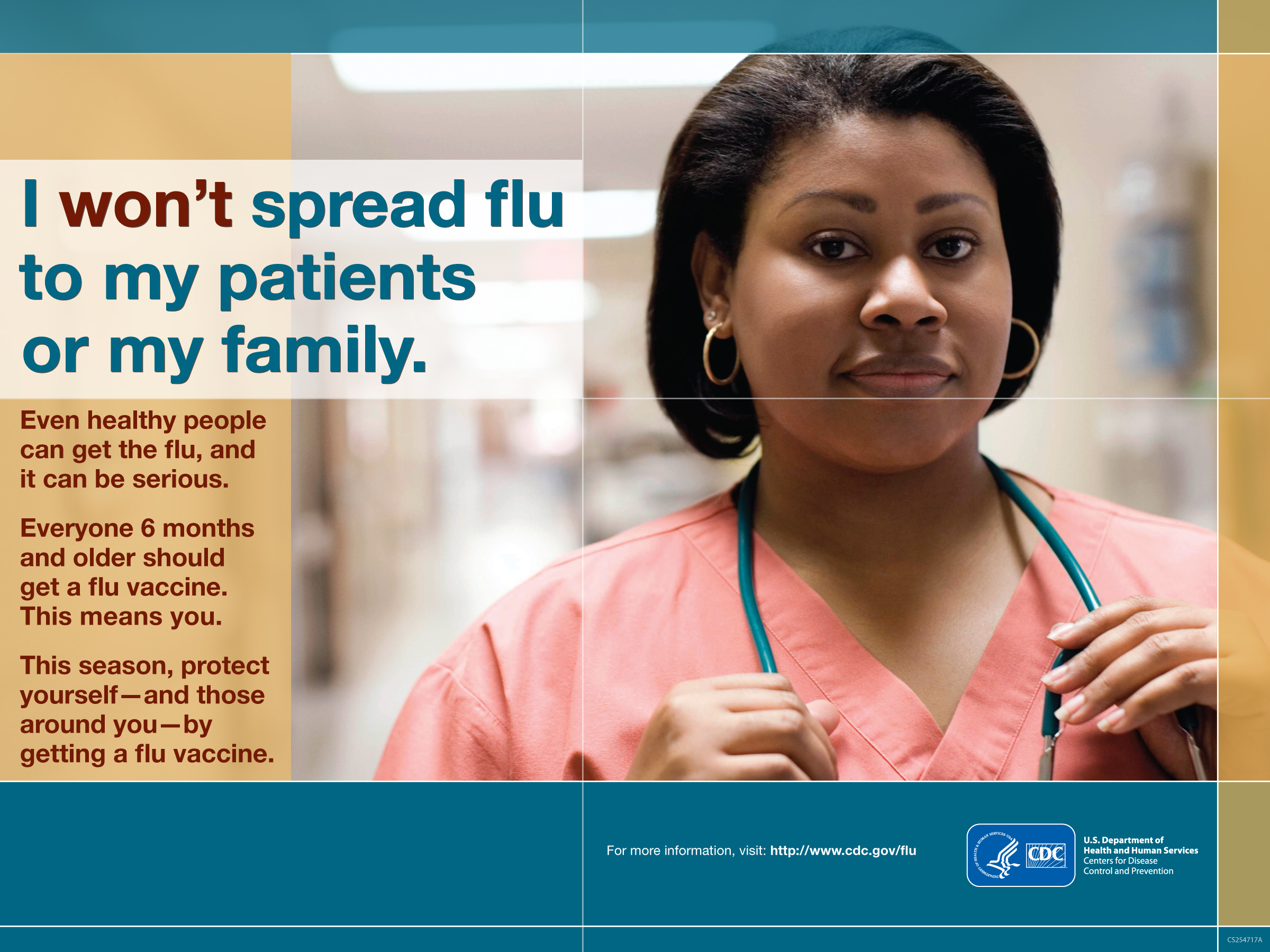 I won't spread flu to my patients or my family.