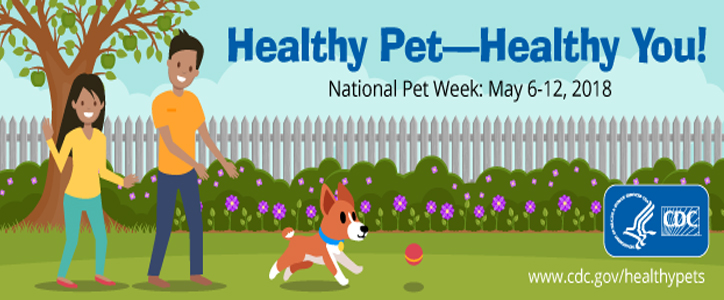 Healthy pet - healthy you : National Pet Week: May 6-12, 2018