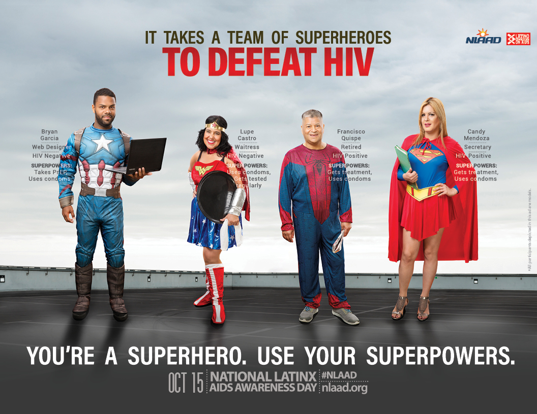It takes a team of superheroes to defeat HIV