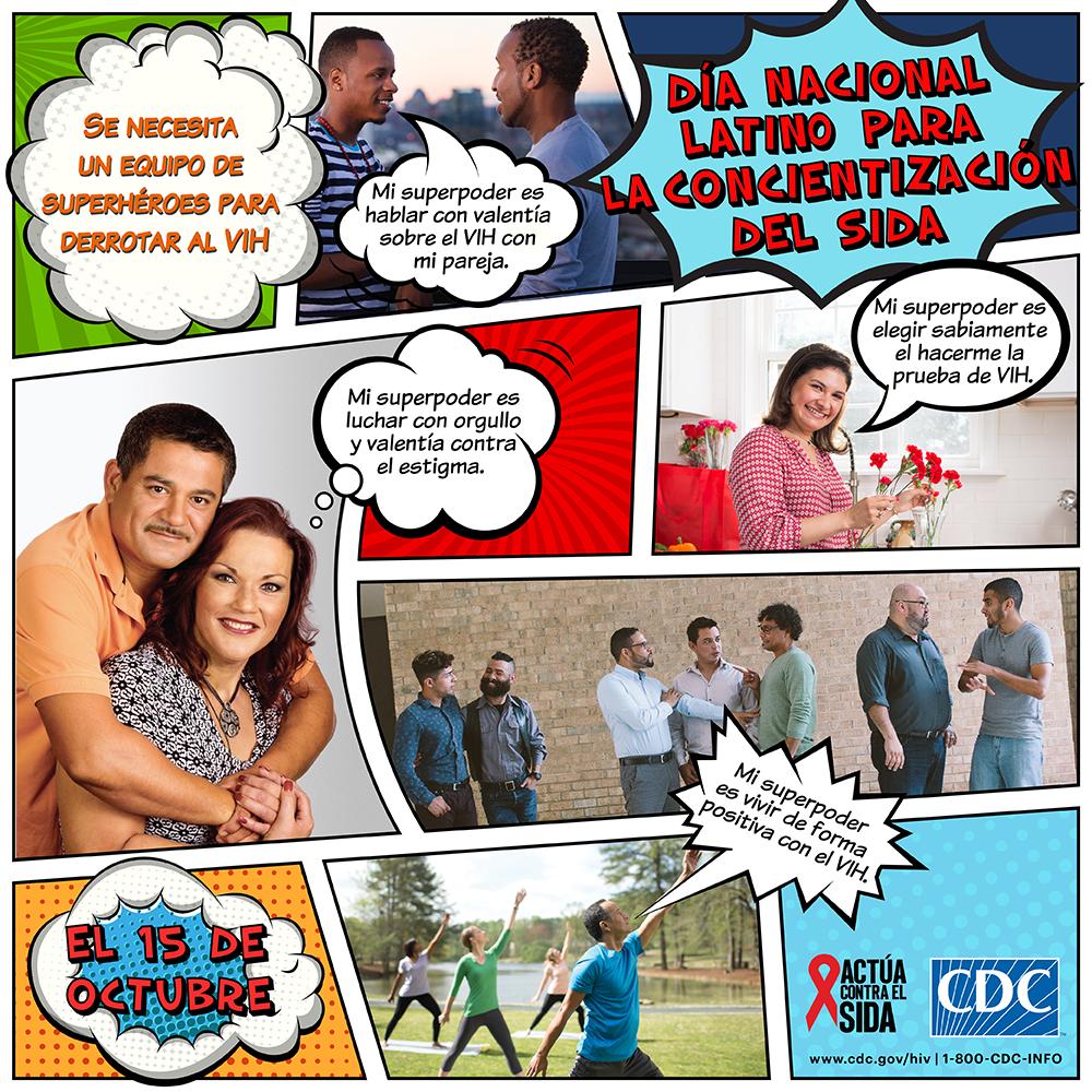 Día nacional Latino para la concientización del sida : 15 octubre 2017