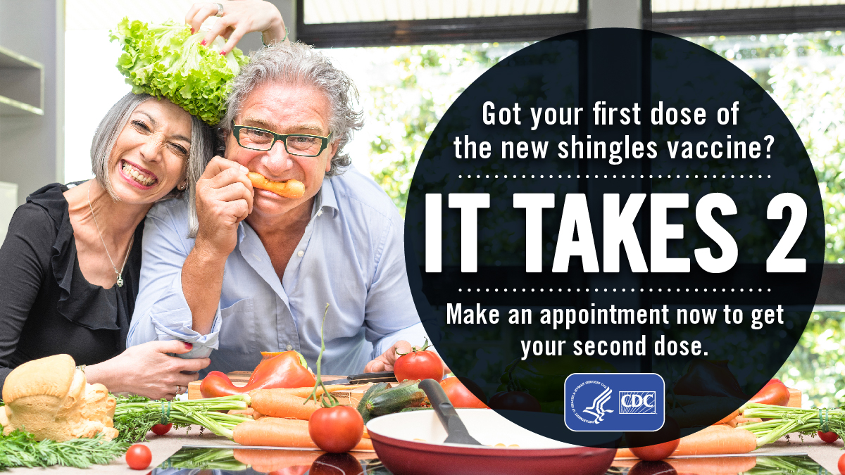 Got your first dose of the new shingles vaccine? It takes 2