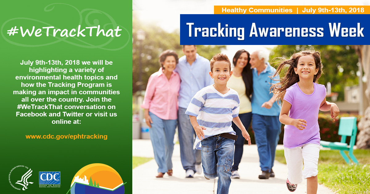 Tracking Awareness Week : healthy communities : July 9th-13th, 2018