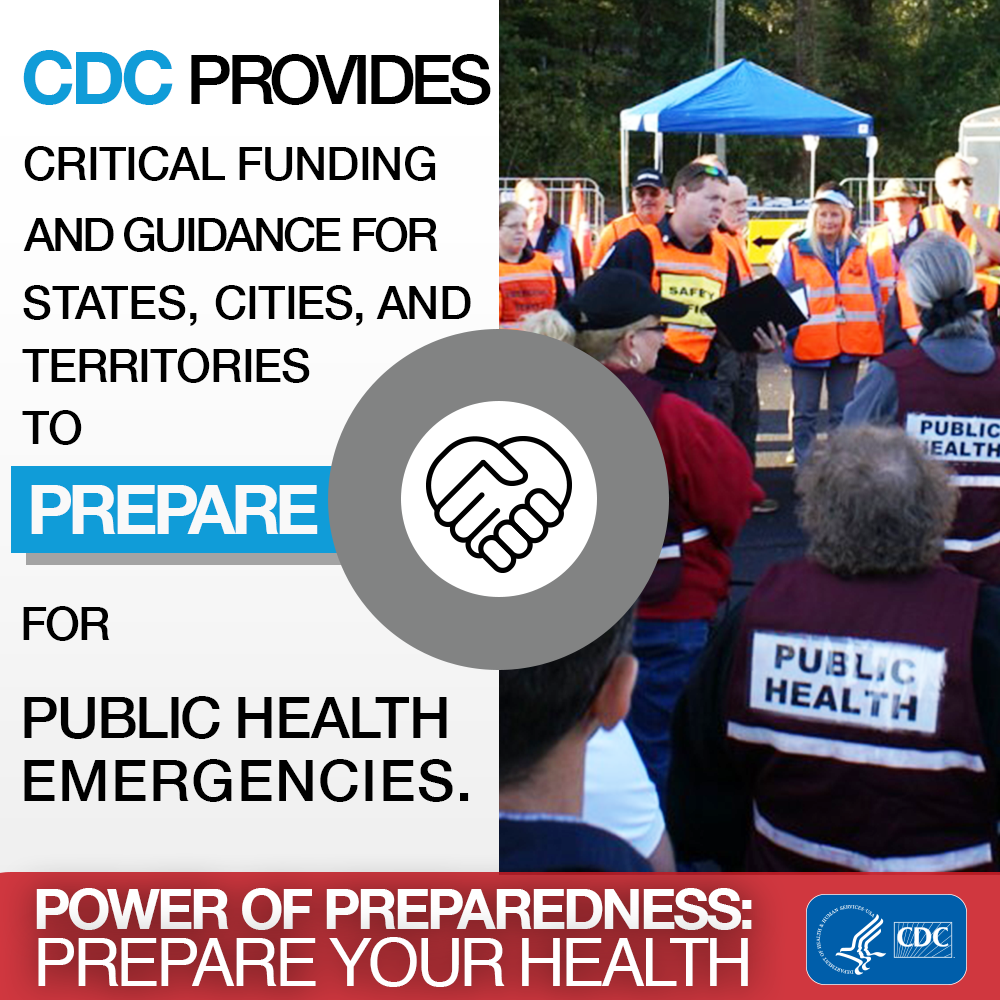 Power of preparedness : prepare your health : National Preparedness Month, week 3: Policy and partnerships