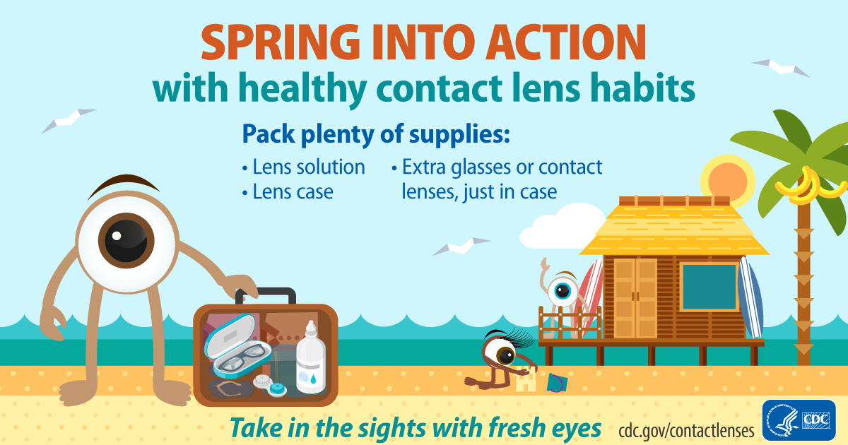 Spring into action with healthy contact lens habits