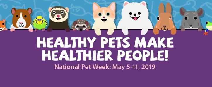 Healthy pets make healthier people : National Pet Week: May 5-11, 2019
