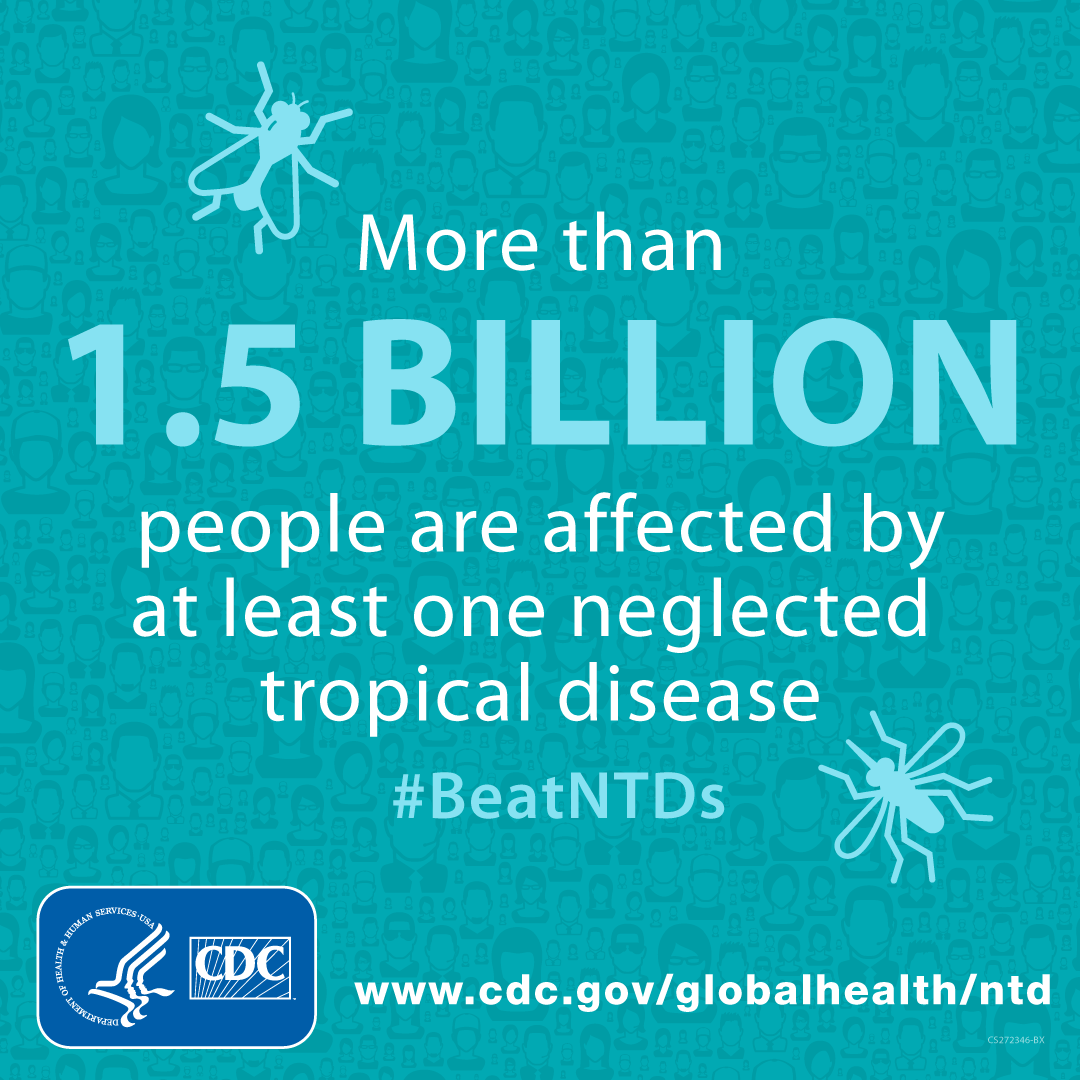More than 1.5 billion people are affected by at least one neglected tropical disease