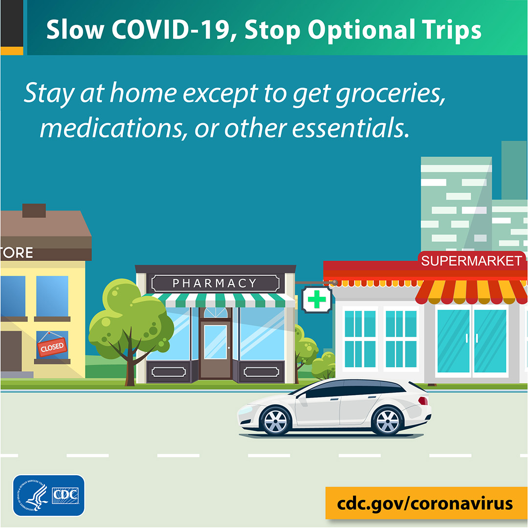 Slow COVID-19, stop optional trips