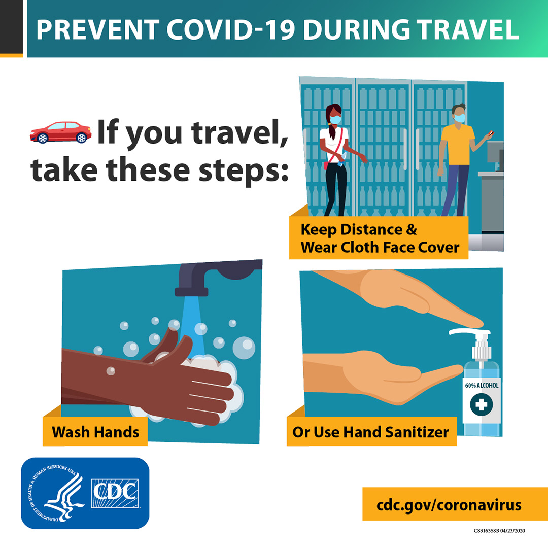 Prevent COVID-19 during travel